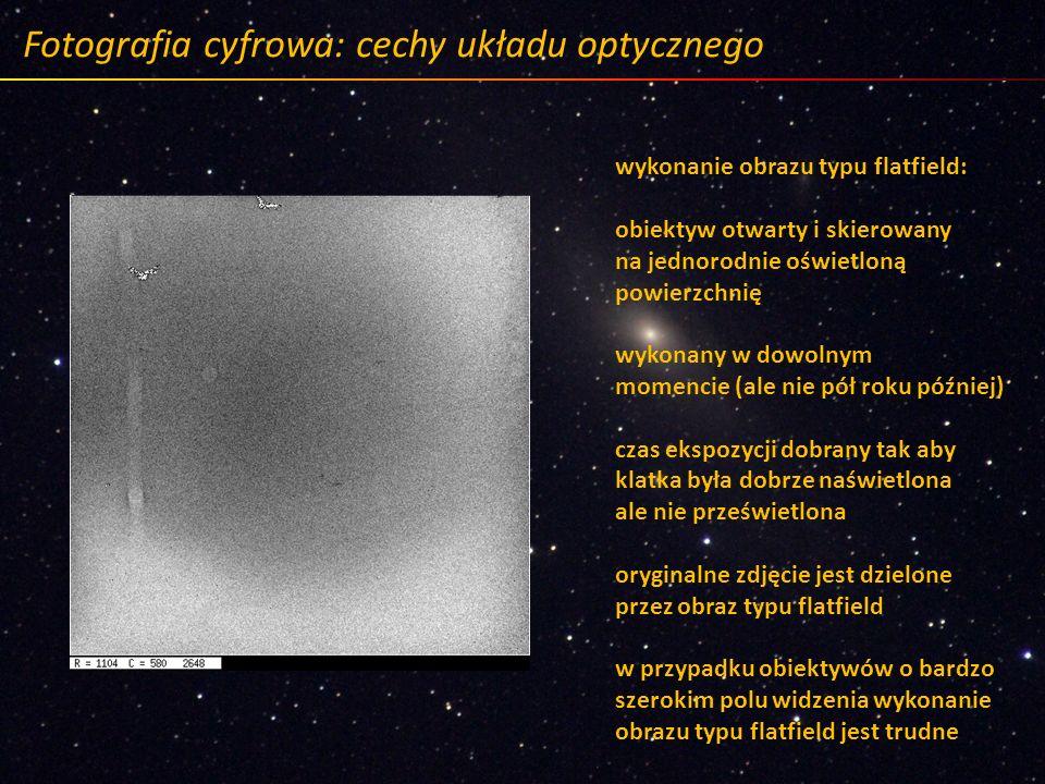 Fotografia cyfrowa: cechy układu optycznego