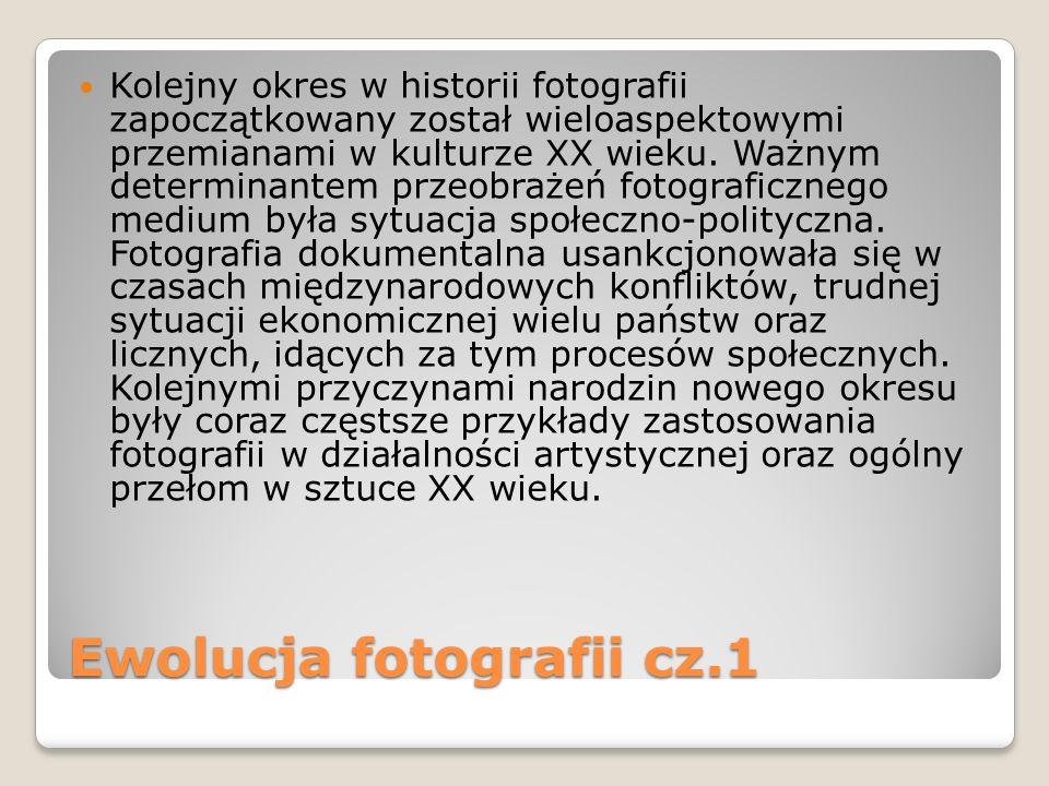 Ewolucja fotografii cz.1