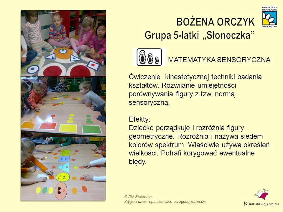 """BOŻENA ORCZYK Grupa 5-latki """"Słoneczka"""