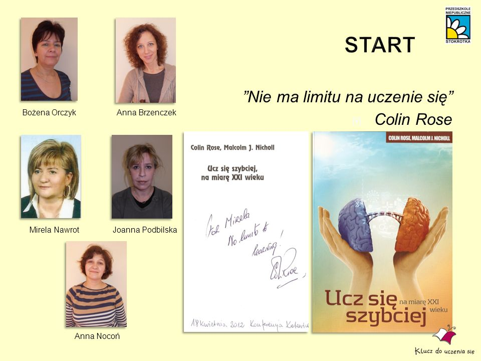 START Nie ma limitu na uczenie się Colin Rose Bożena Orczyk