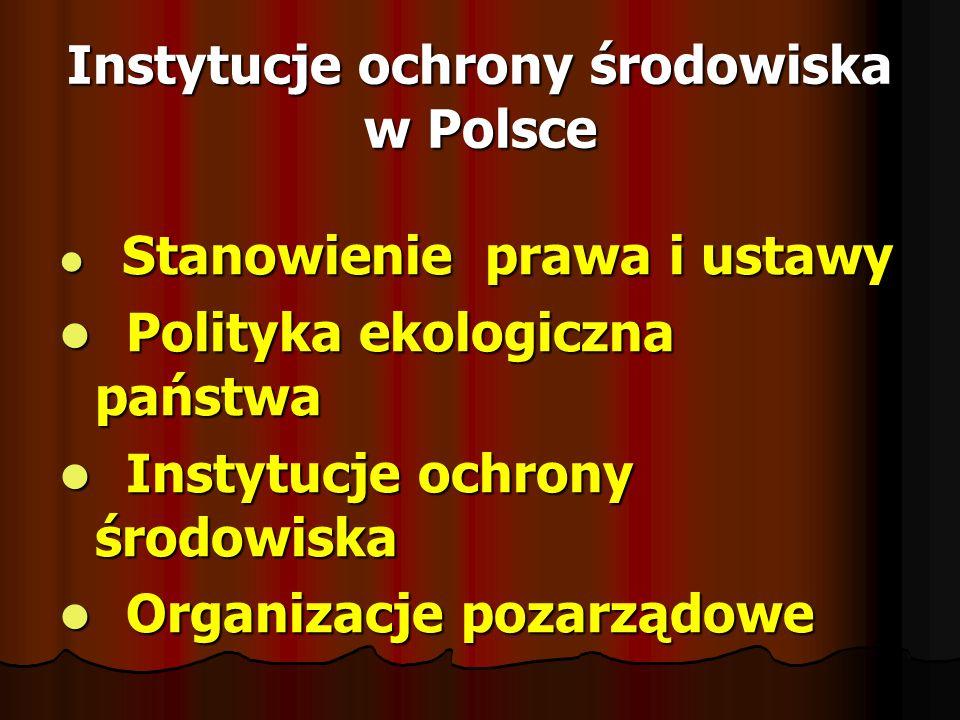 Instytucje ochrony środowiska w Polsce