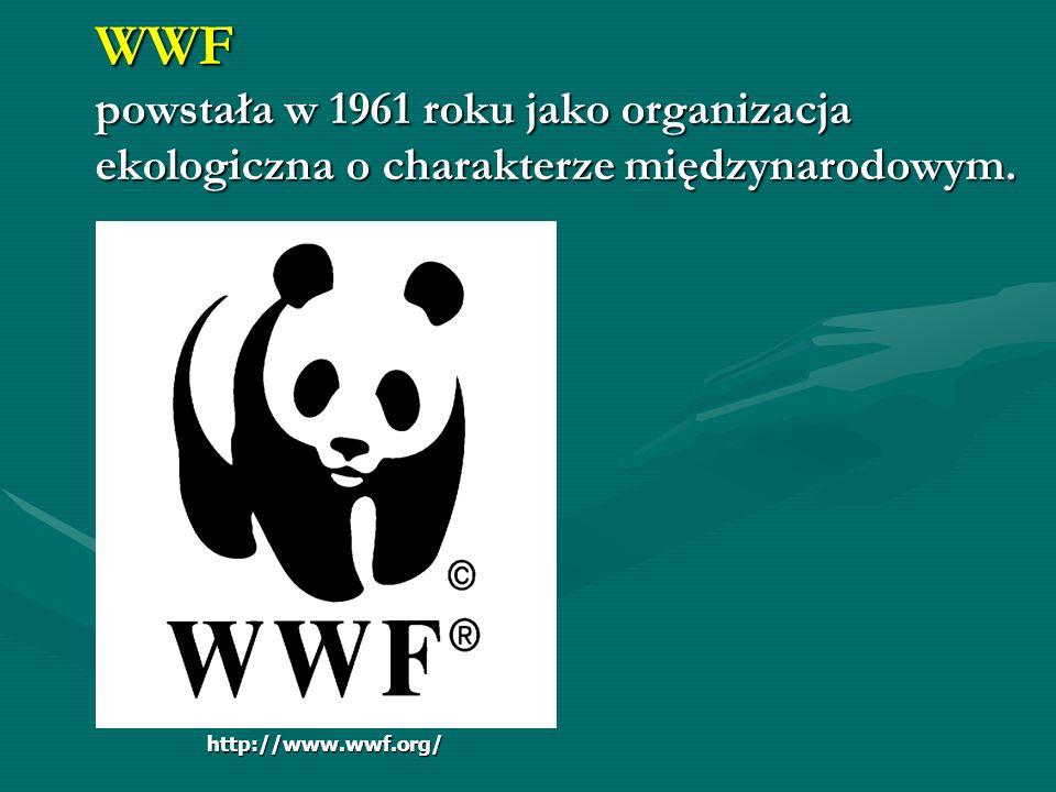 WWF powstała w 1961 roku jako organizacja ekologiczna o charakterze międzynarodowym.
