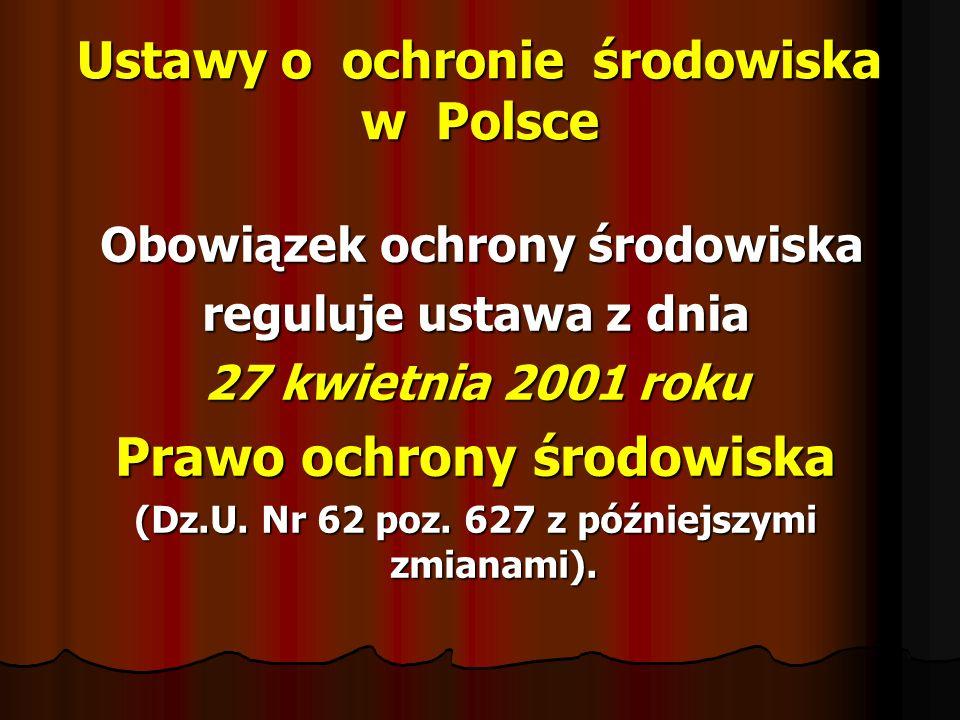 Ustawy o ochronie środowiska w Polsce
