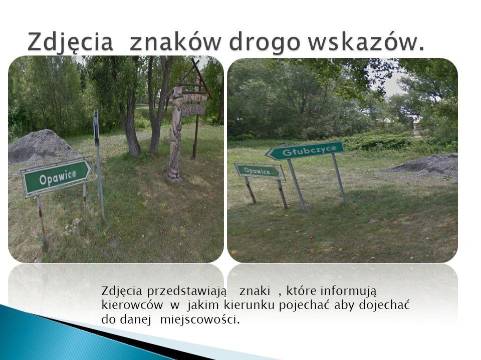 Zdjęcia znaków drogo wskazów.