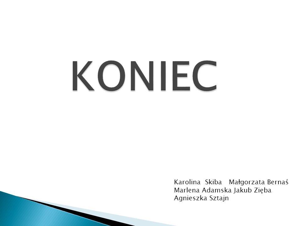 KONIEC Karolina Skiba Małgorzata Bernaś Marlena Adamska Jakub Zięba Agnieszka Sztajn