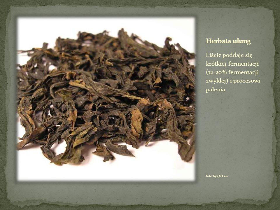 Herbata ulung Liście poddaje się krótkiej fermentacji (12-20% fermentacji zwykłej) i procesowi palenia.