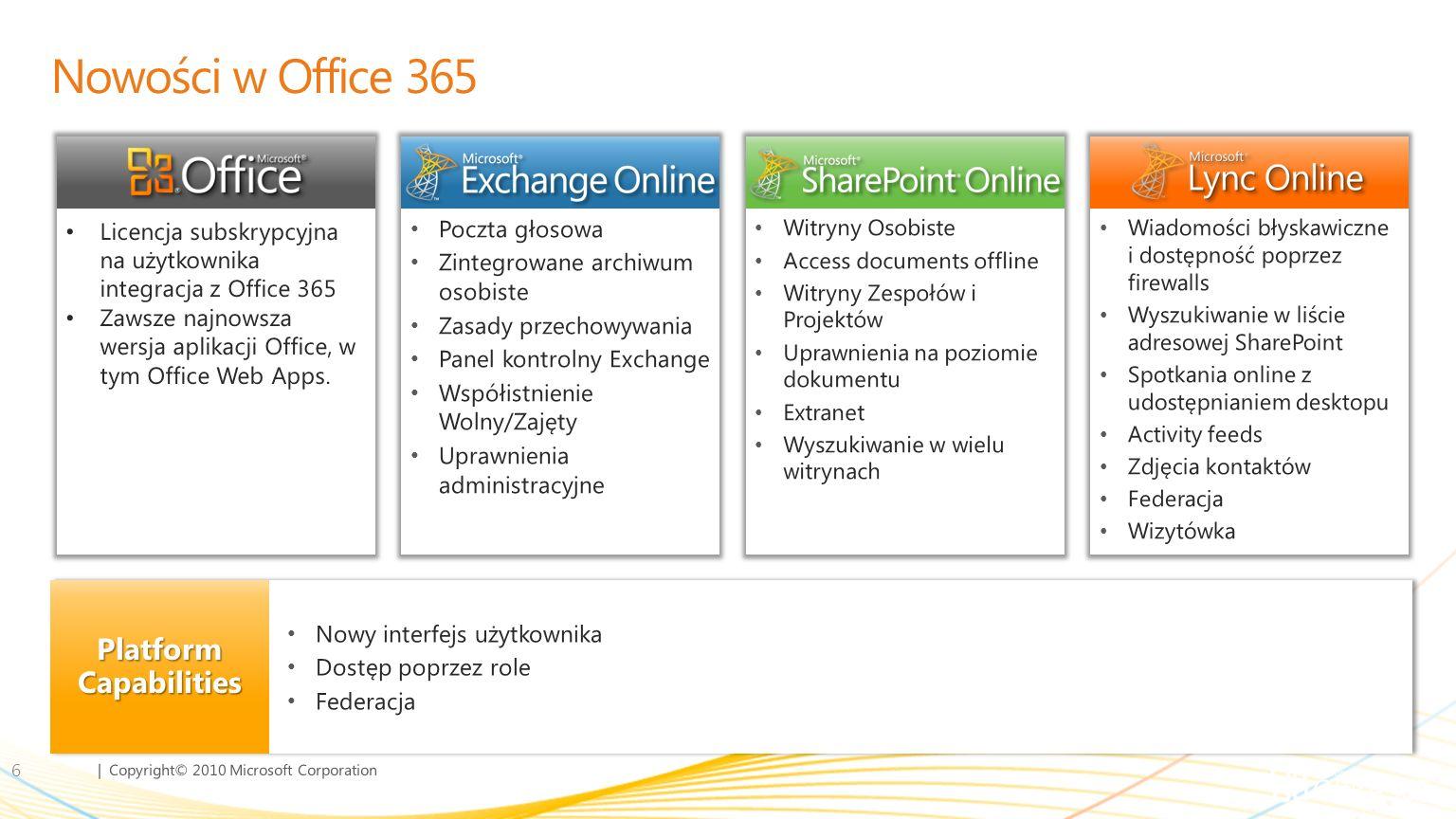 Nowości w Office 365 Platform Capabilities Poczta głosowa