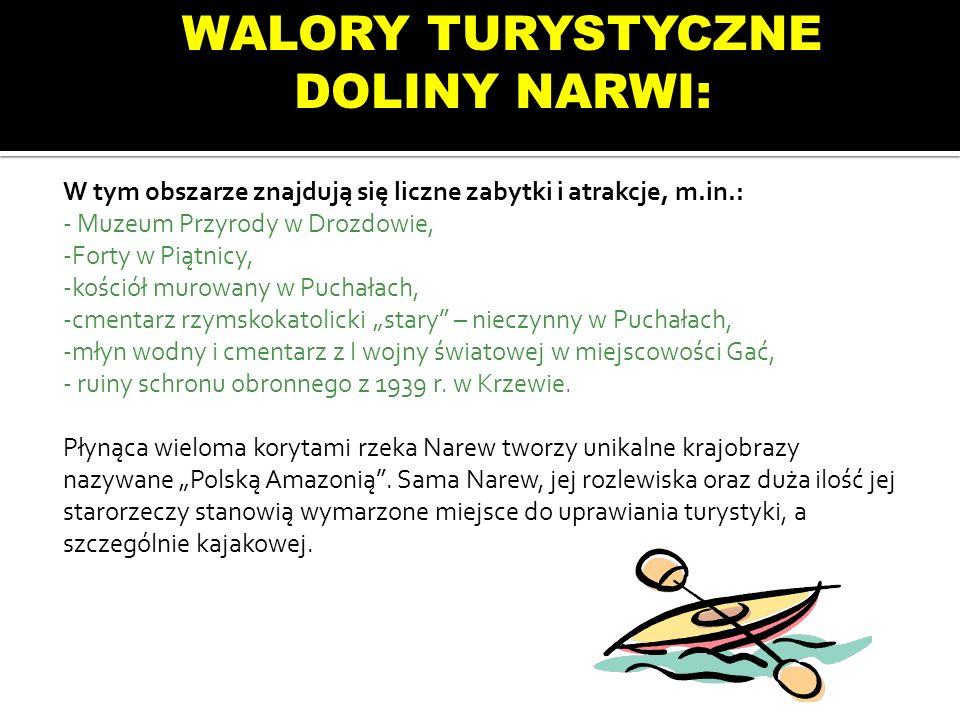 WALORY TURYSTYCZNE DOLINY NARWI: