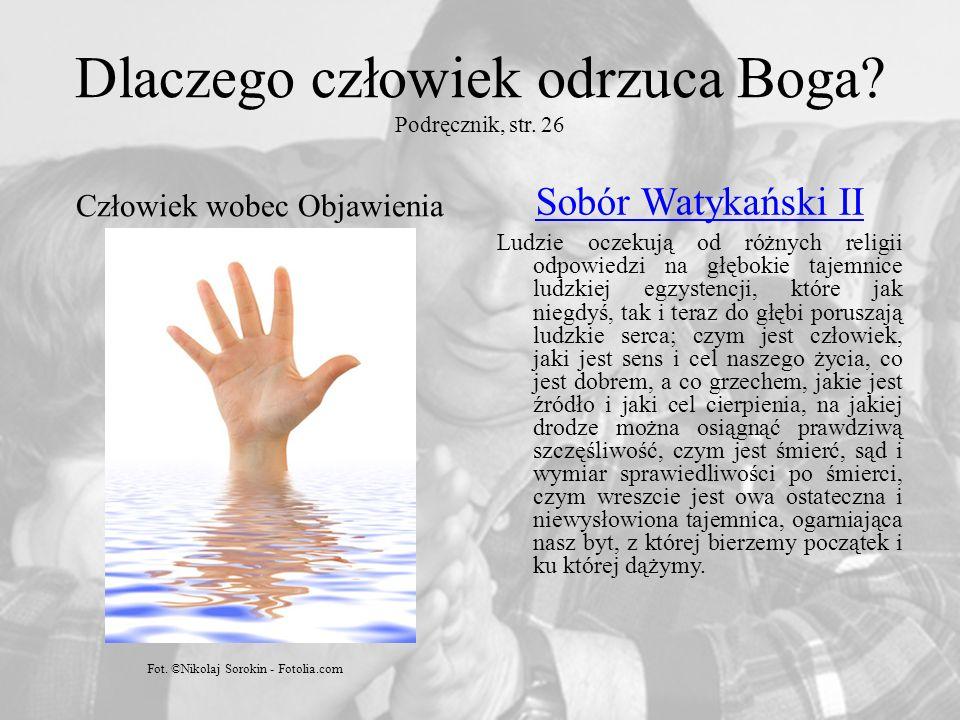 Dlaczego człowiek odrzuca Boga Podręcznik, str. 26