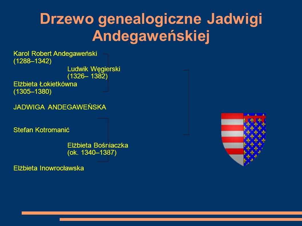 Drzewo genealogiczne Jadwigi Andegaweńskiej