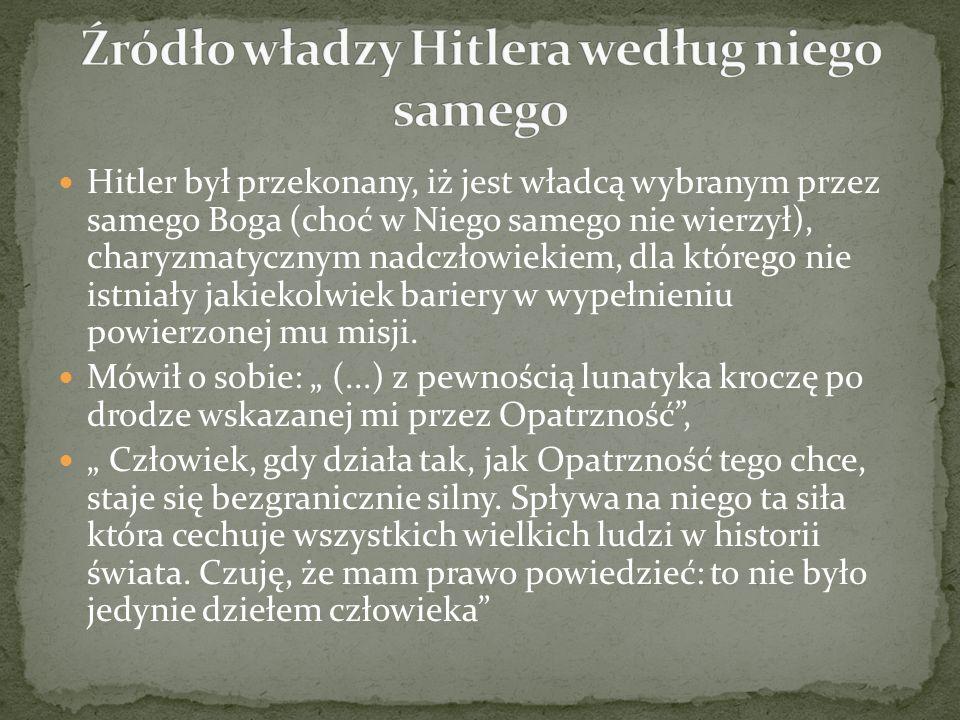 Źródło władzy Hitlera według niego samego