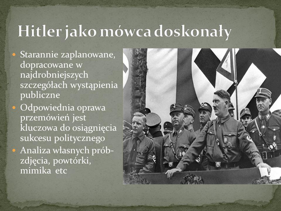 Hitler jako mówca doskonały