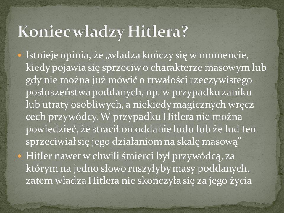 Koniec władzy Hitlera