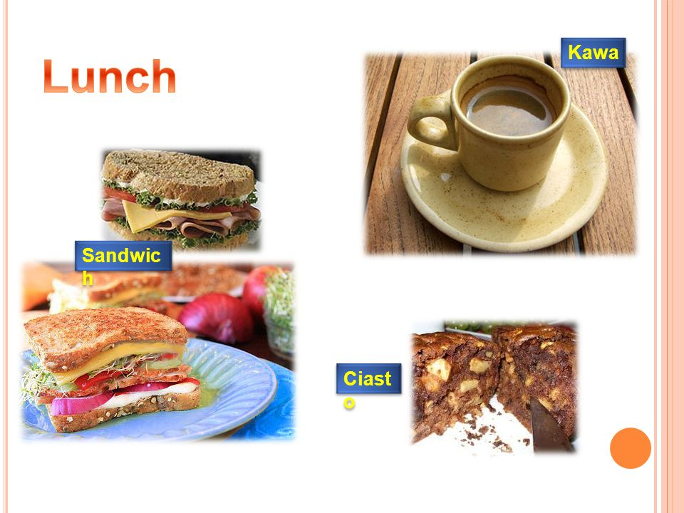 Lunch Kawa Sandwich Ciasto