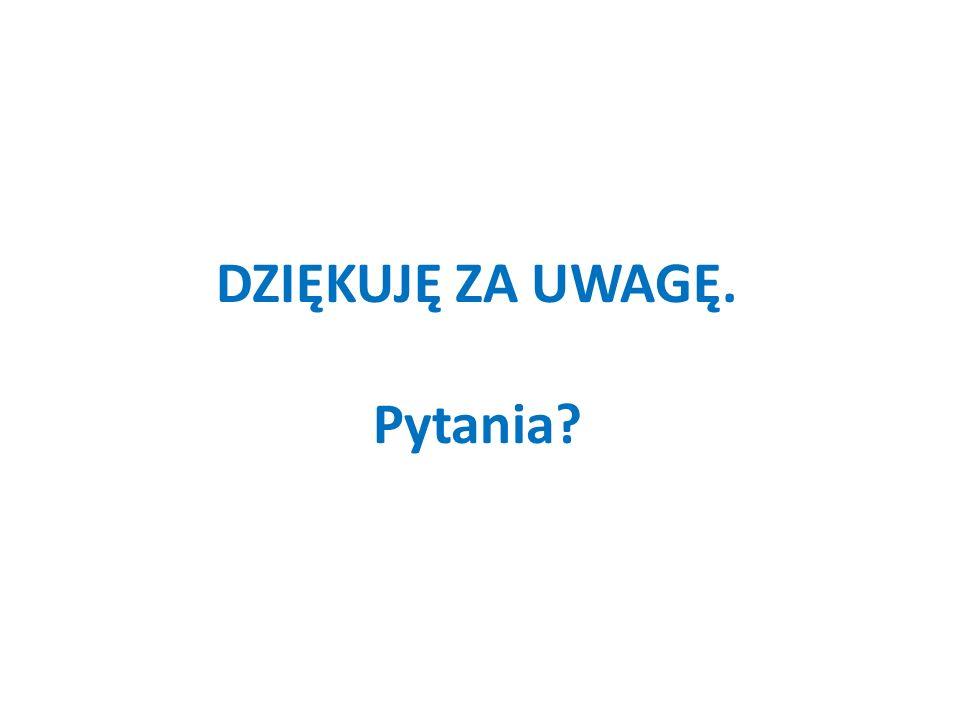 DZIĘKUJĘ ZA UWAGĘ. Pytania