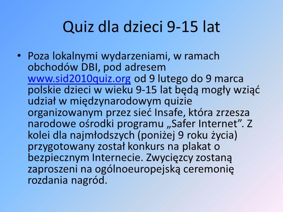 Quiz dla dzieci 9-15 lat