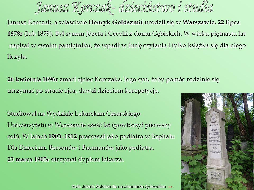 Janusz Korczak- dzieciństwo i studia