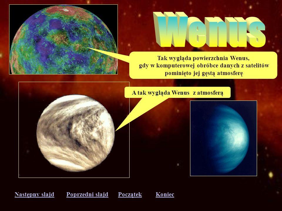 Wenus Tak wygląda powierzchnia Wenus,