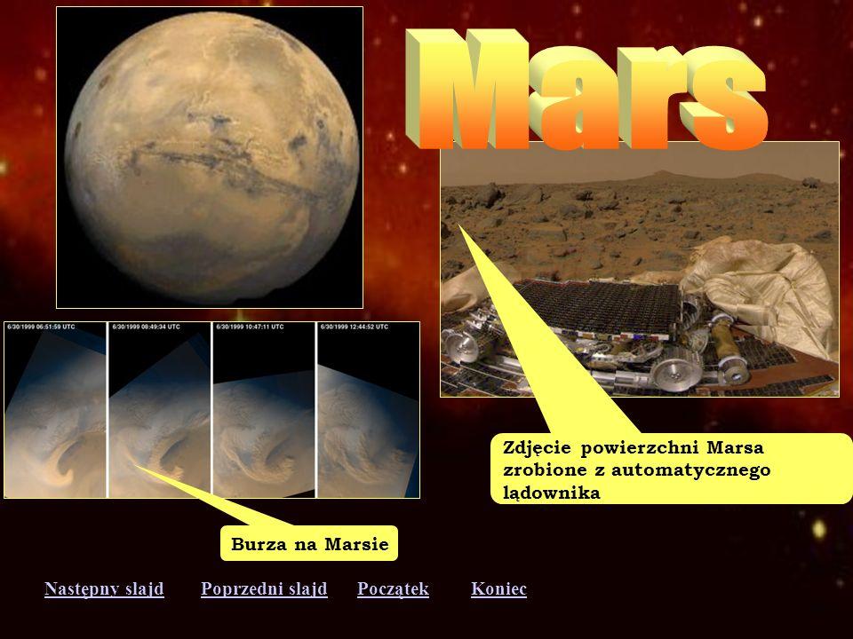 Mars Zdjęcie powierzchni Marsa zrobione z automatycznego lądownika