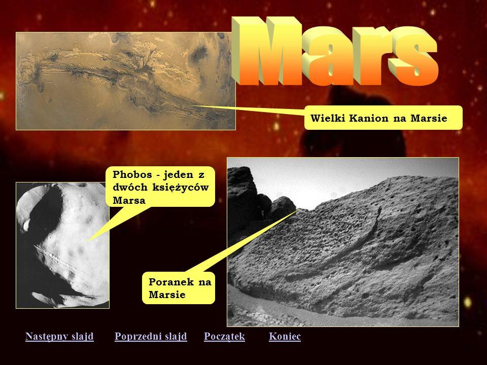 Mars Wielki Kanion na Marsie Phobos - jeden z dwóch księżyców Marsa