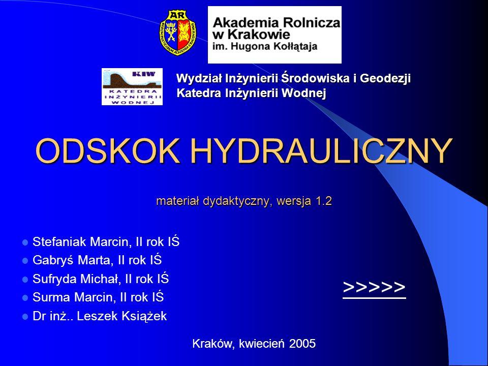 ODSKOK HYDRAULICZNY materiał dydaktyczny, wersja 1.2