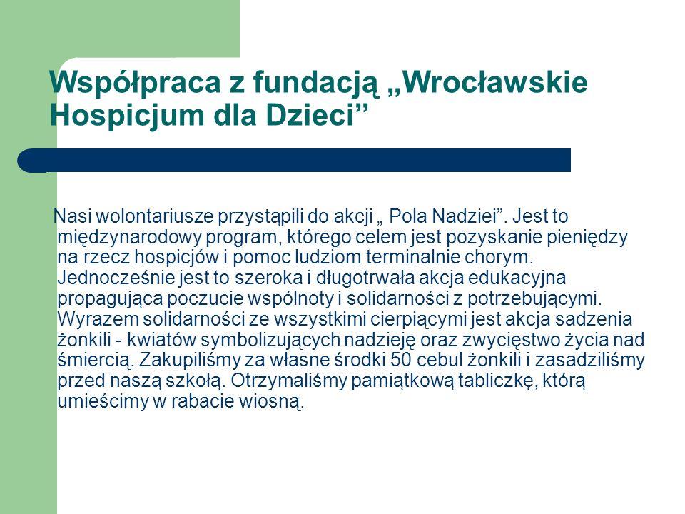 """Współpraca z fundacją """"Wrocławskie Hospicjum dla Dzieci"""