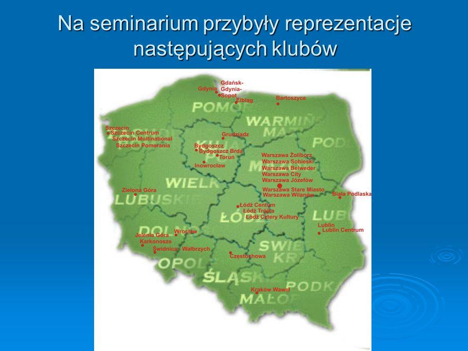 Na seminarium przybyły reprezentacje następujących klubów