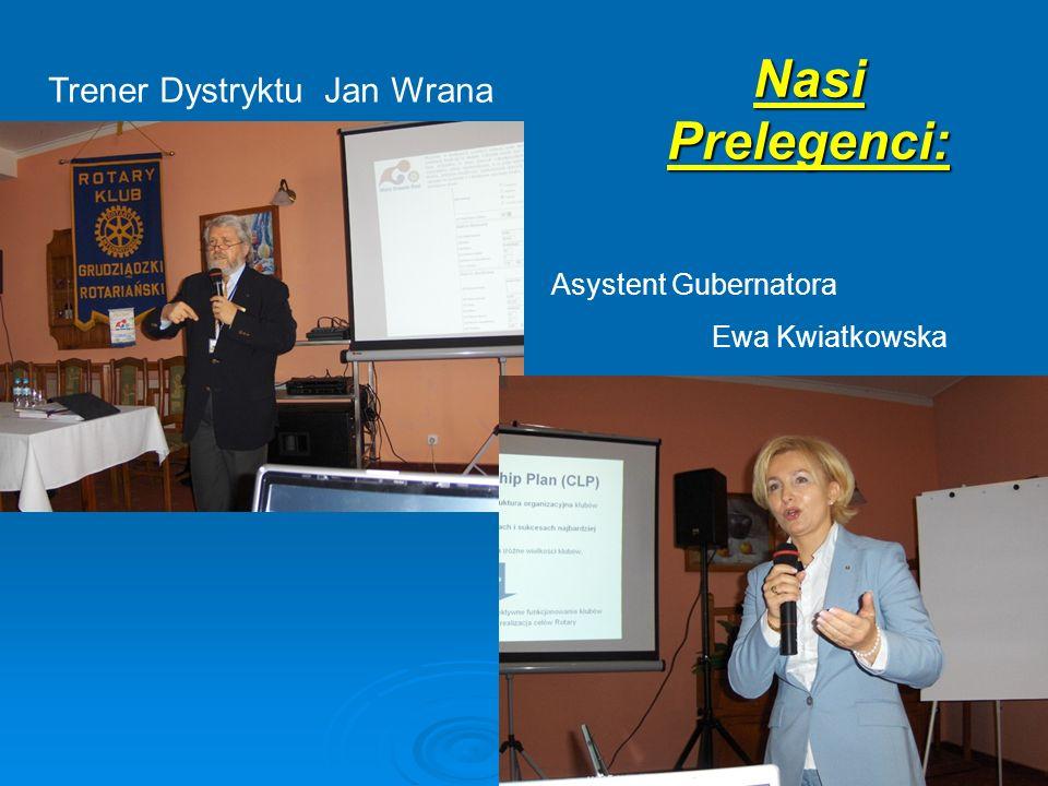 Nasi Prelegenci: Trener Dystryktu Jan Wrana Asystent Gubernatora