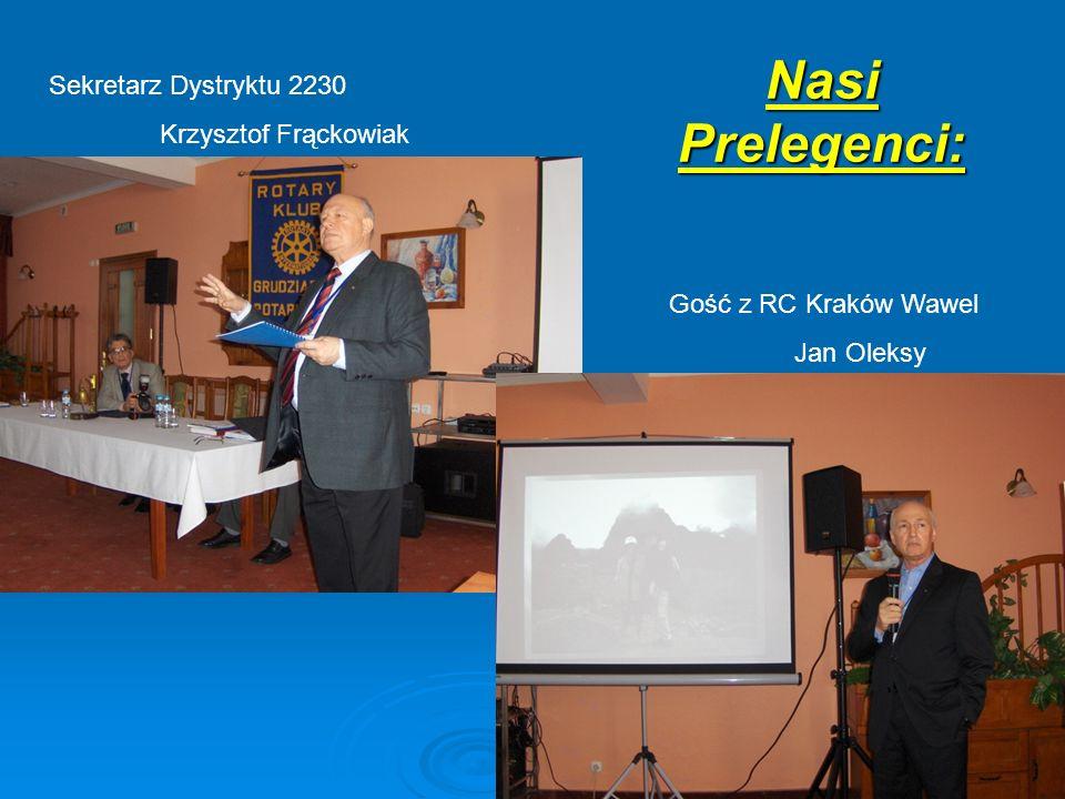 Nasi Prelegenci: Sekretarz Dystryktu 2230 Krzysztof Frąckowiak