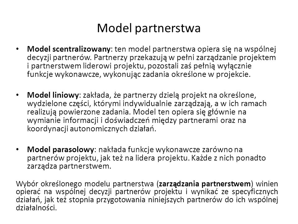 Model partnerstwa
