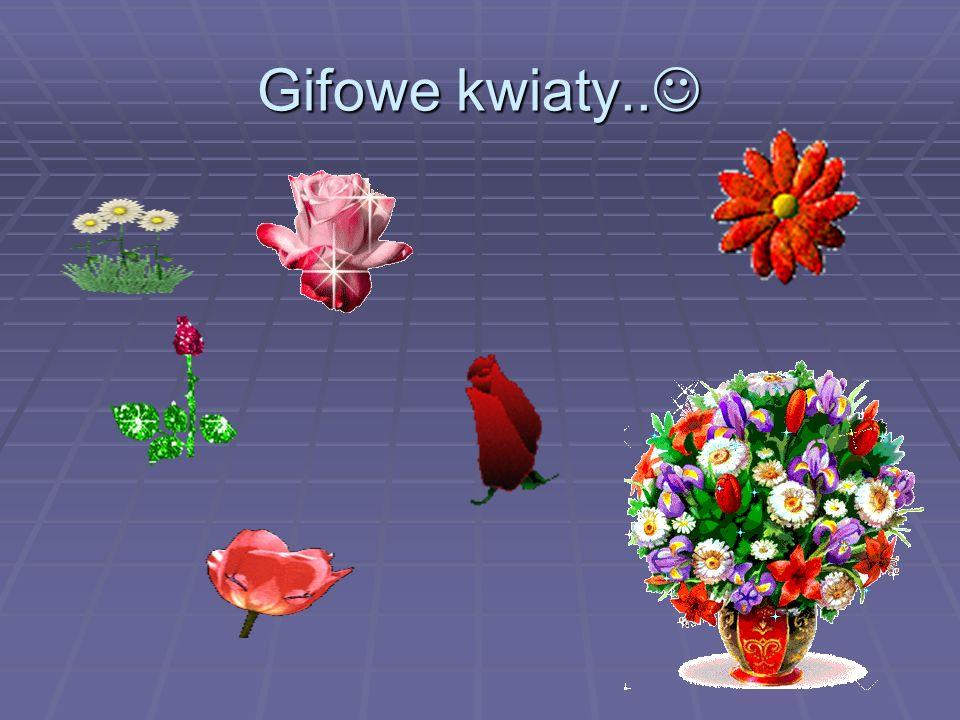Gifowe kwiaty..