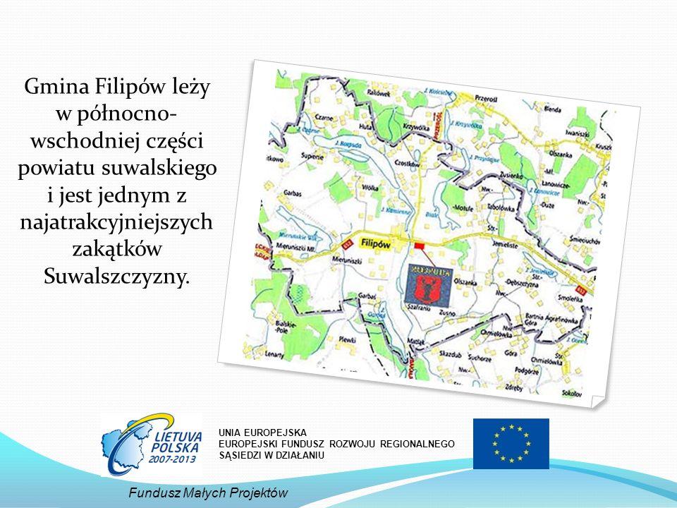 Gmina Filipów leży w północno- wschodniej części powiatu suwalskiego i jest jednym z najatrakcyjniejszych zakątków Suwalszczyzny.