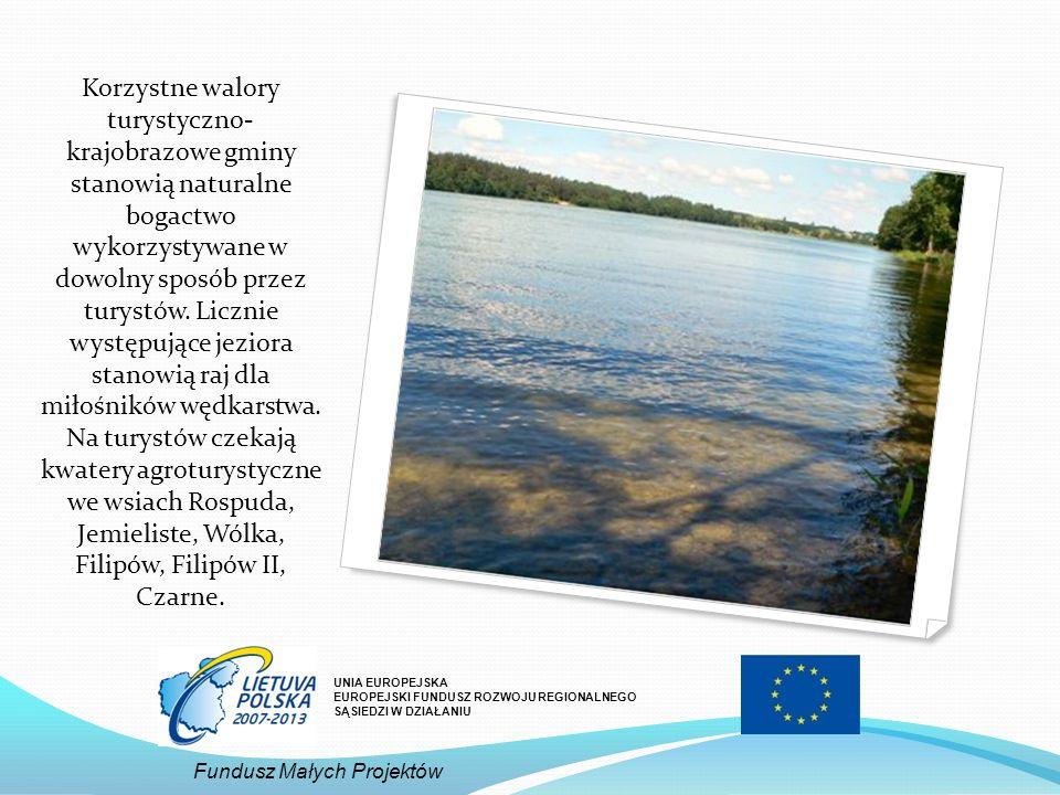Korzystne walory turystyczno- krajobrazowe gminy stanowią naturalne bogactwo wykorzystywane w dowolny sposób przez turystów. Licznie występujące jeziora stanowią raj dla miłośników wędkarstwa. Na turystów czekają kwatery agroturystyczne we wsiach Rospuda, Jemieliste, Wólka, Filipów, Filipów II, Czarne.