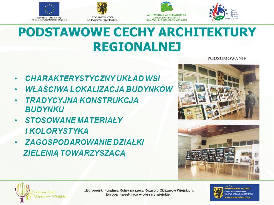 PODSTAWOWE CECHY ARCHITEKTURY REGIONALNEJ