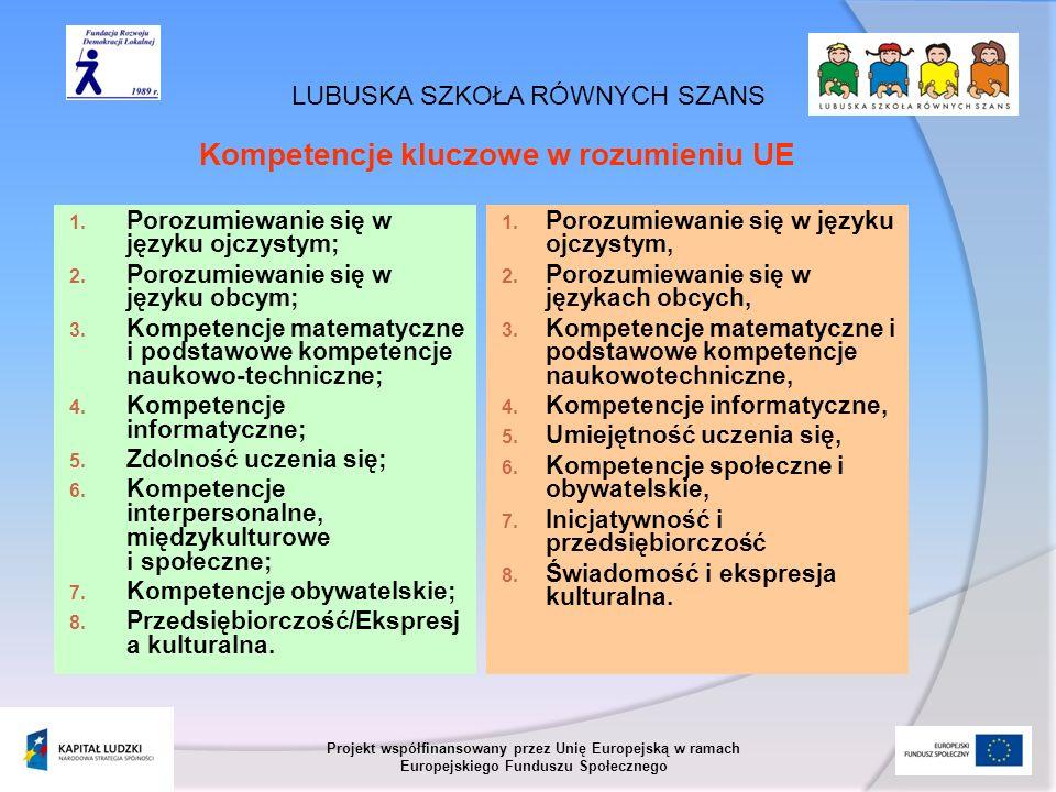 Kompetencje kluczowe w rozumieniu UE