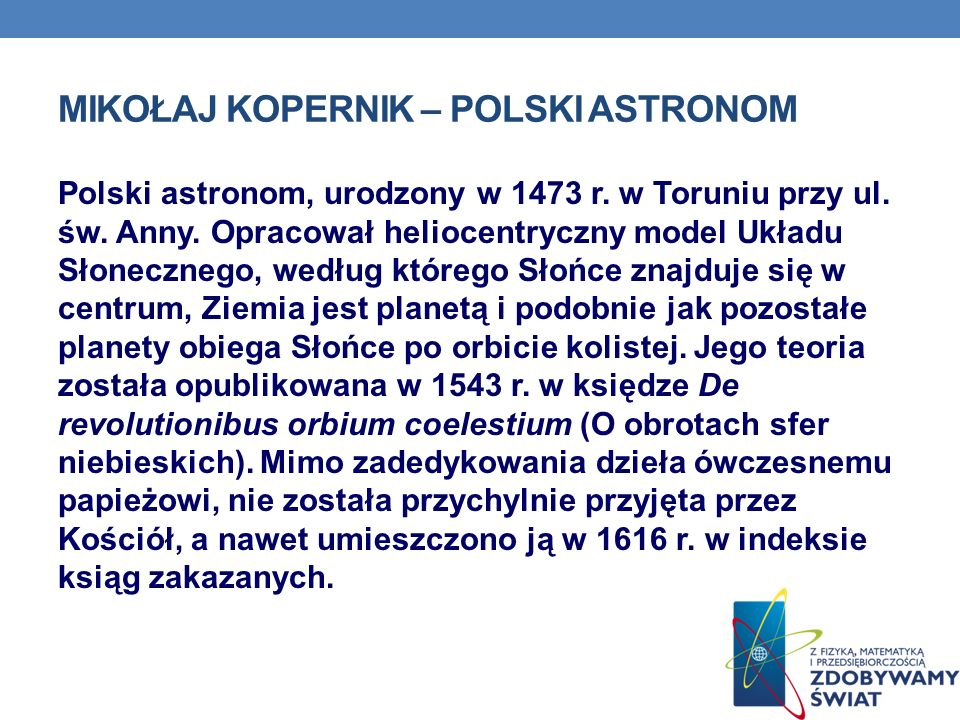 Mikołaj Kopernik – polski astronom