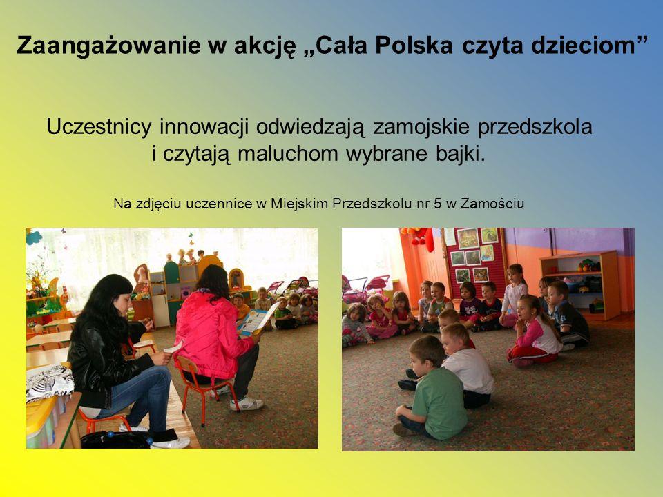 """Zaangażowanie w akcję """"Cała Polska czyta dzieciom"""