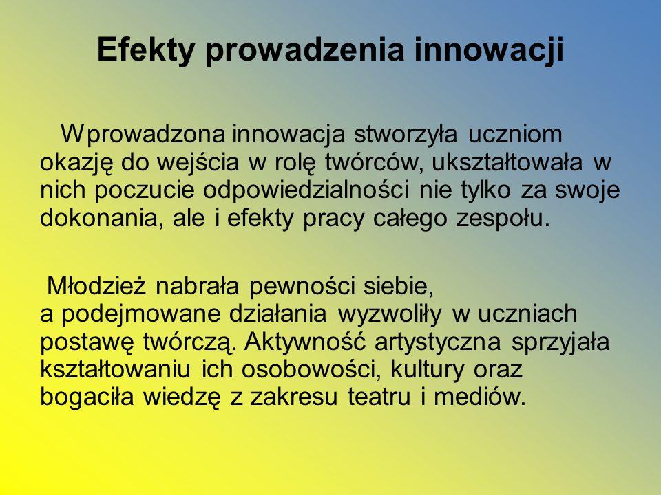 Efekty prowadzenia innowacji