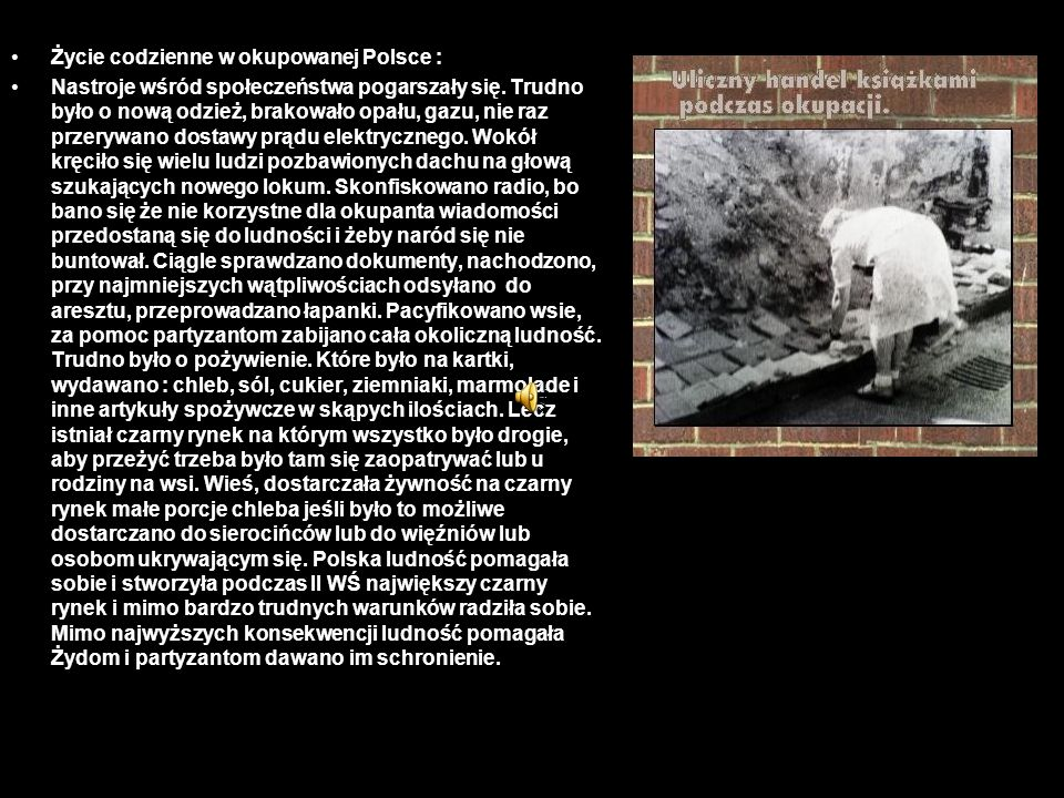 Życie codzienne w okupowanej Polsce :