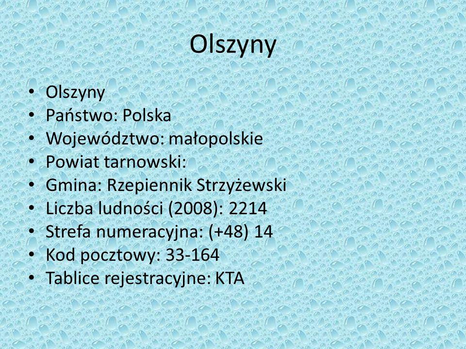 Olszyny Olszyny Państwo: Polska Województwo: małopolskie