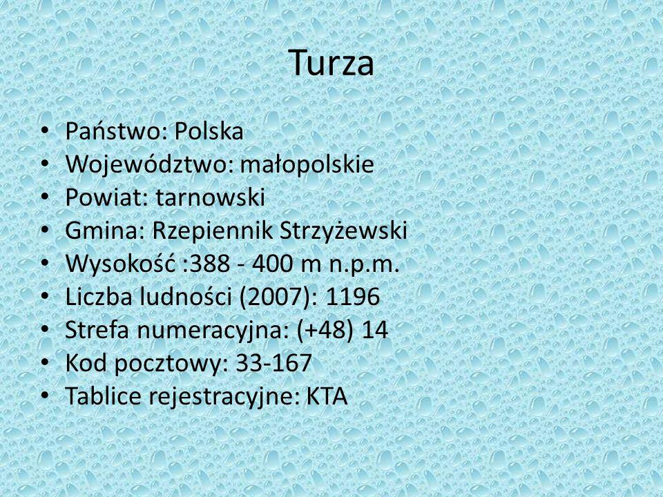 Turza Państwo: Polska Województwo: małopolskie Powiat: tarnowski