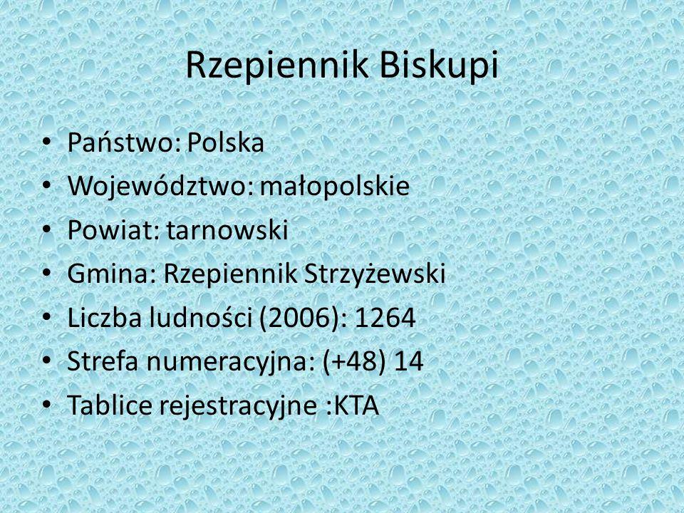Rzepiennik Biskupi Państwo: Polska Województwo: małopolskie