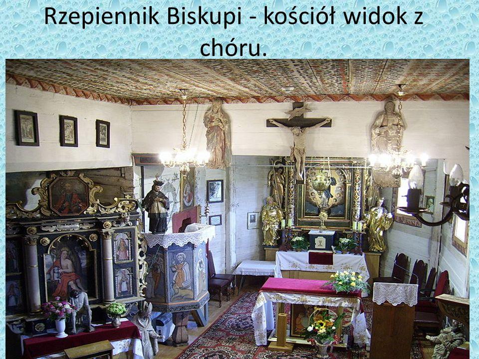 Rzepiennik Biskupi - kościół widok z chóru.
