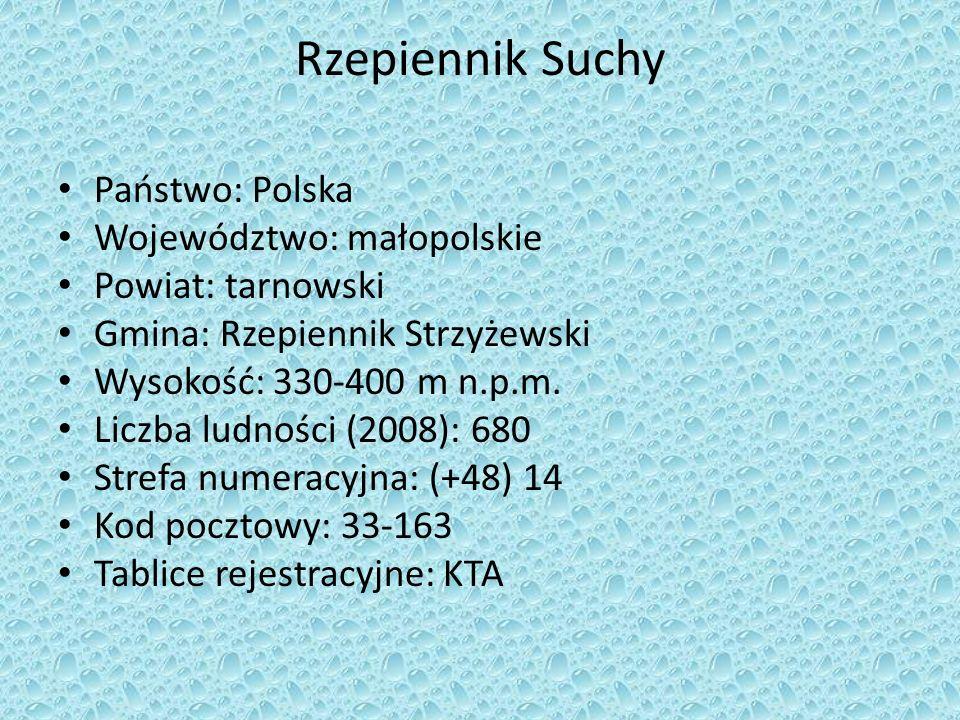 Rzepiennik Suchy Państwo: Polska Województwo: małopolskie
