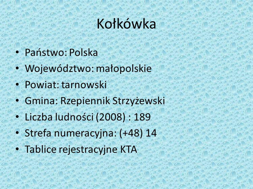 Kołkówka Państwo: Polska Województwo: małopolskie Powiat: tarnowski