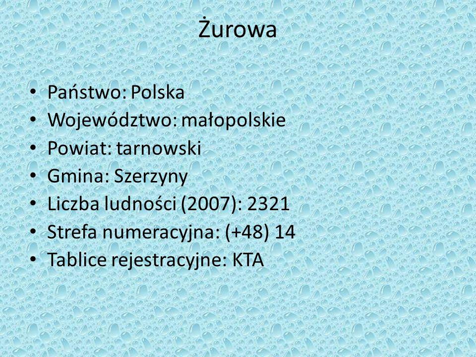 Żurowa Państwo: Polska Województwo: małopolskie Powiat: tarnowski