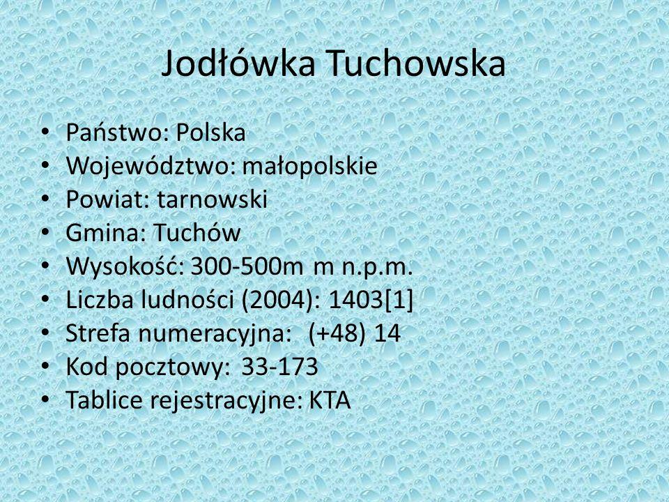 Jodłówka Tuchowska Państwo: Polska Województwo: małopolskie