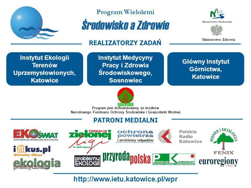 Program Wieloletni http://www.ietu.katowice.pl/wpr REALIZATORZY ZADAŃ