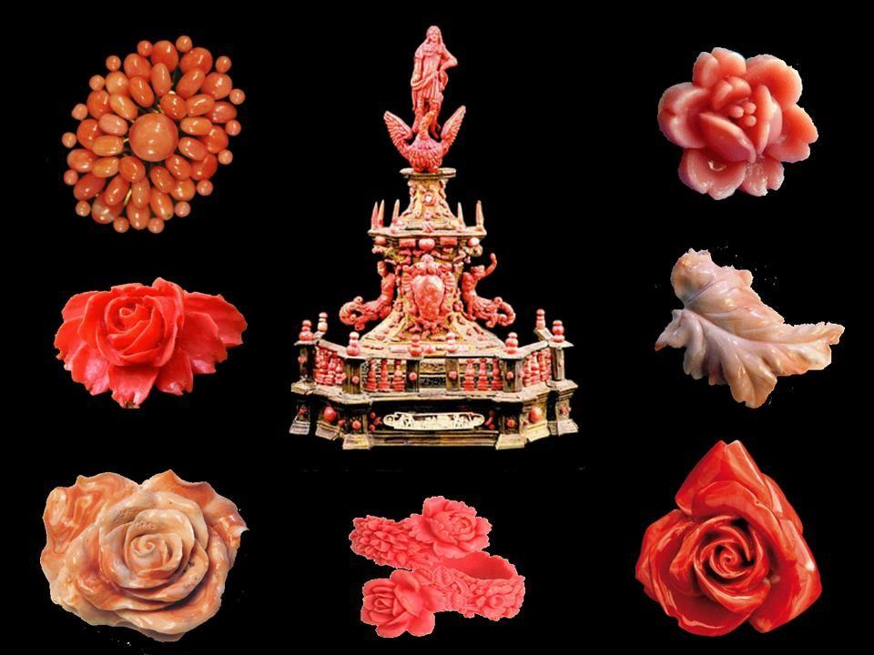 Wyroby z koralu z okresu baroku - Italia