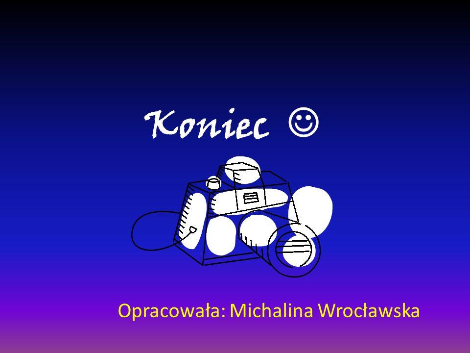 Koniec  Opracowała: Michalina Wrocławska
